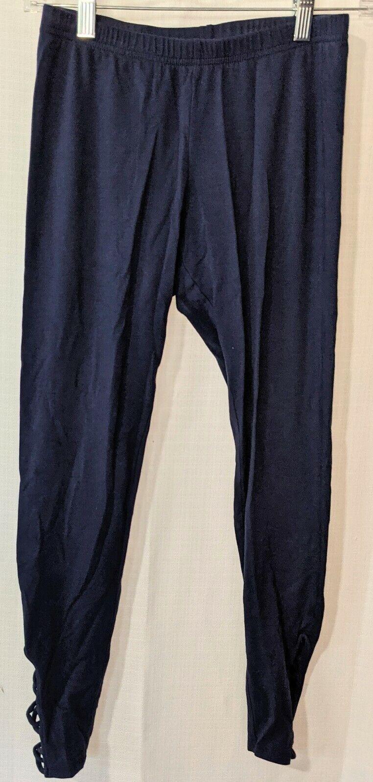 Old Navy Blue Long Leggings Ankle Cutouts Women's Size Medium