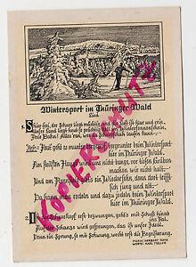 Wintersport-im-Thueringer-Wald-Motiv-Skilaeufer-und-Lied-Musik-v-Herbert-Roth