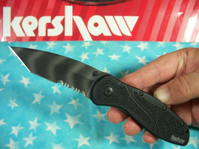"KERSHAW  ""USA"" - BLUR Tanto TIGER STRIPE spring assist SPEEDSAFE knife 1670TTSST"