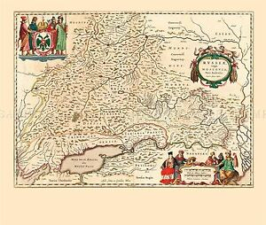 MAP-ANTIQUE-1645-BLAEU-SOUTH-MUSCOVY-RUSSIA-LARGE-REPLICA-POSTER-PRINT-PAM0033