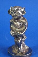 Lincoln Imp Hood Ornament Devil Scary Sitting Nickel Chrome Car Auto
