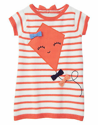 GYMBOREE FAIRY TALE FOREST ORANGE STRIPE FLOWER SHIRT TOP Girls Nwt 4t