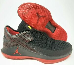 8bcf12455510 Nike Air Jordan XXXII Low 32 Mens Basketball Shoes Black Red Yellow ...