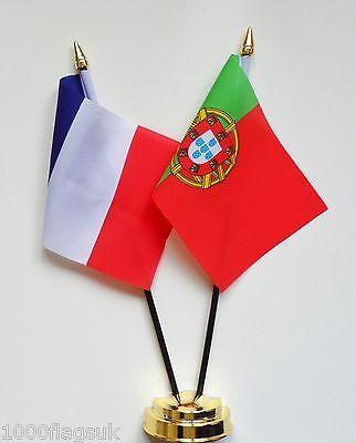 France /& Aquitaine Double Friendship Table Flag Set