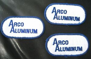 ARCO-ALUMINUM-LOT-3-EMBROIDERED-PATCHES-UNIFORM-SHIRT-HAT-JACKET-3-034-x-1-1-2-034