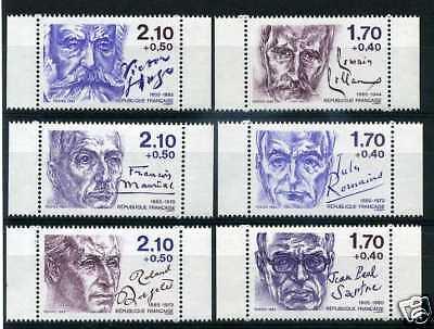 Dramatikern 1985 Yvert 2355a/2360a Neu Frankreich