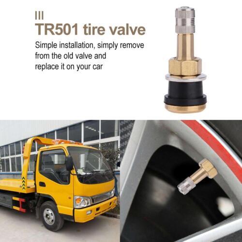 1pc TR501 Rubber Brass Straight Tubeless Tire Valve Stem for Car Trailer ATV