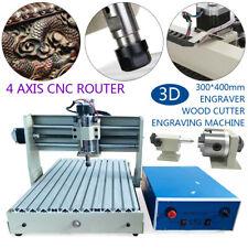 4axis Cnc 3040z Dq Router Engraving Machine Metal Wood Cutting Diy Machine 400w