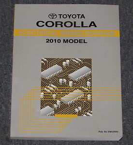 2010 toyota corolla electrical wiring diagram service manual ebay rh ebay com toyota corolla 2009 electrical wiring diagram toyota corolla 2009 electrical wiring diagram