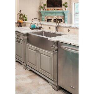 Details about 16G Farmhouse Single Bowl Stainless Steel Kitchen Farm Sink  Apron Front 10\