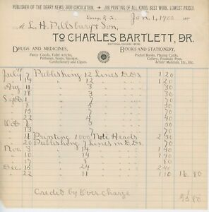 1900-Charles-Bartlett-Billhead-Boston-MA-Drug-Store-Books-Stationery-Medicine
