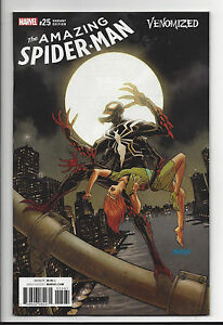 AMAZING SPIDER-MAN #25 VENOMIZED VARIANT COVER MARVEL COMIC BOOK 1 VENOM JOHNSON