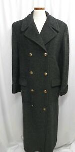 Details about Gucci Alpaca Wool Coat Womens Overcoat Size 42 Medium Gray  Double Breasted