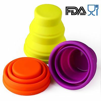 Silicone Folding Cup Telescopic Collapsible Outdoor Travel Camping Tool SCO04-04