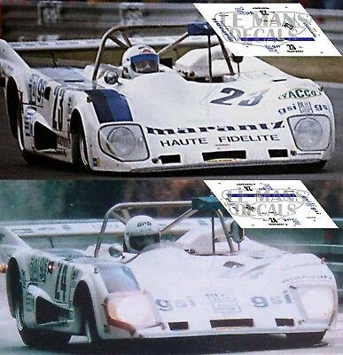 decals 1//43 Lola T298 Le Mans 1980 N°23
