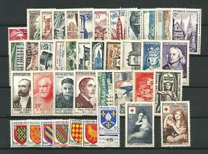 FRANCE-ANNEE-COMPLETE-1954-N-968-1007-Neufs-NSC-Cote-323
