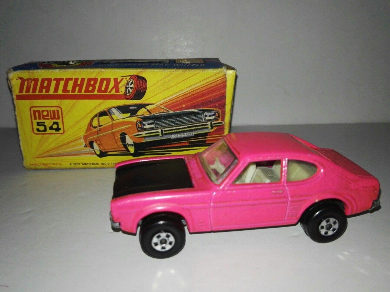 Matchbox superfast 54c Ford Capri with original box 1970 rare