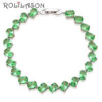 TB858  New Arrival Silver Plated Peridot Fashion Jewelry Light Green Bracelets