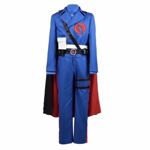 G.I Joe Retaliation Cobra Commander Uniform Cosplay Costume Blue Men Suit#3