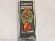 NEFF TIME wrist watch surf skate green yellow red black Rasta Men's adult NEW