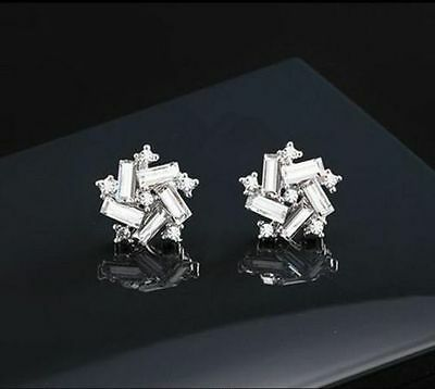 Women Lady Elegant Windmill Crystal Rhinestone Ear Stud Earrings Fashion style