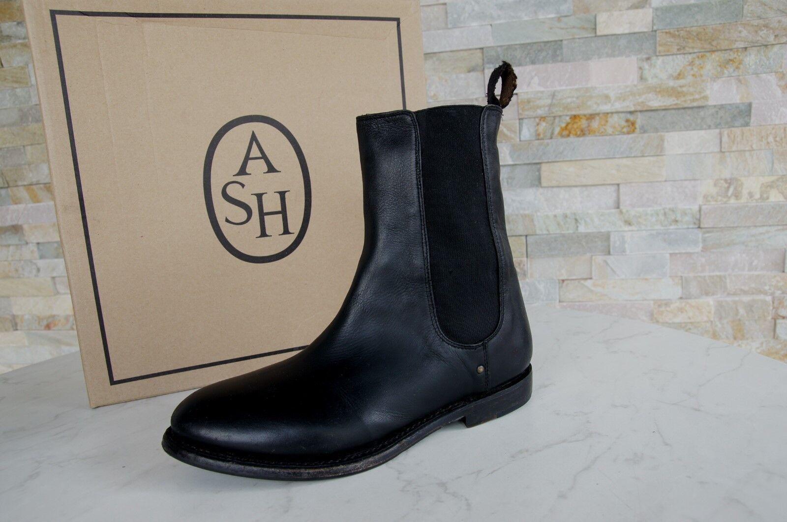 ASH Gr 38 Booties Schuhe Stiefeletten Vintage Country Patty schwarz neu