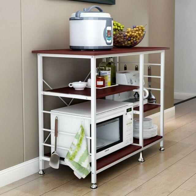 3-Tier Microwave Oven Cart Bakers Rack Kitchen Storage Shelves organizer  Stand
