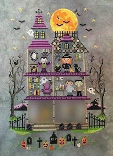 10/%Off Tiny modernist Ctd X-stitch chart-Haunted Mansion-Part 5-Dr Frankenstein