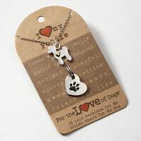 Poodle Necklace & Dog Charm Set