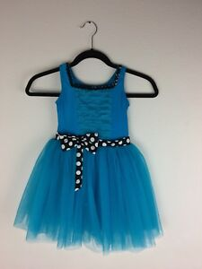 Revolution Dancewear Tap Your Troubles Away Girl's Blue Dress Style 692 Size MC
