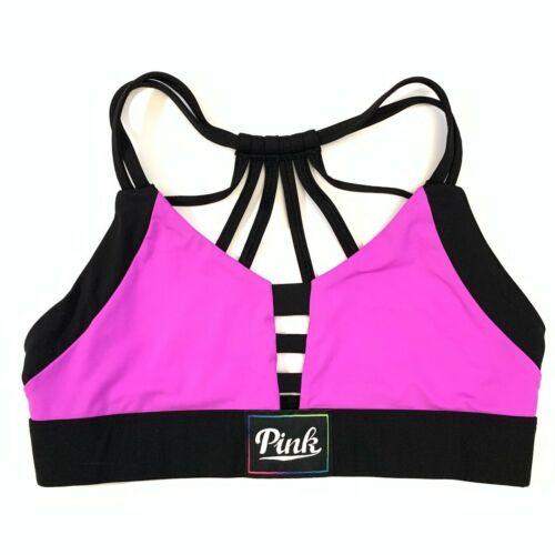 M Victorias Secret PINK Ultimate Unlined Strappy Sport Bralette Bra S