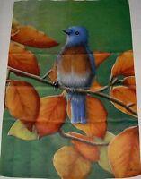 Flip It Decorative Porch Flag 28 X 40 Colorful Bird On A Tree Limb