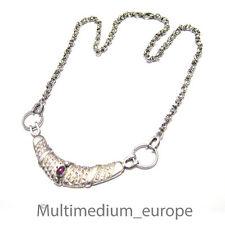 Silber Halskette Granat Collier silver necklace garnet
