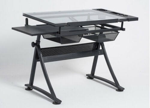 Tattoo Stencil Glass Desk Tracing Drawing Work Station Adjustable Drafting Table