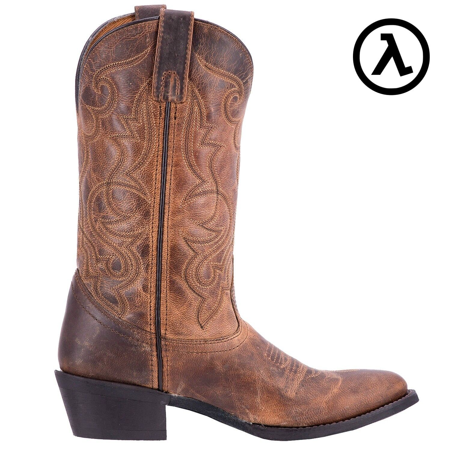 LArougeO MADDIE 11  TAN femmes LEATHER WESTERN bottes 51112  ALL TailleS - NEW