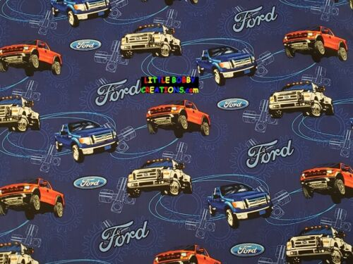 OOP /& EXTREMELY RARE! FORD TRUCKS Cotton Fabric 1//4 Yard to 1 YARD