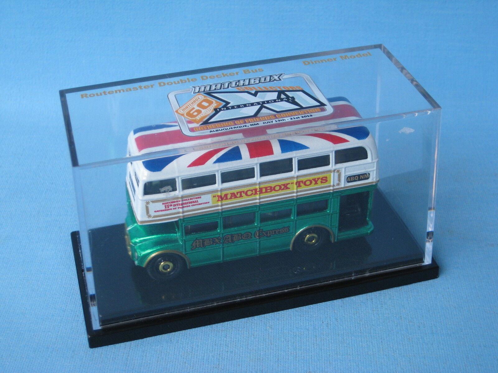 Matchbox Routemaster Bus 2013 Gathebague Dinner Model Rare blanc and  vert  magasin en ligne