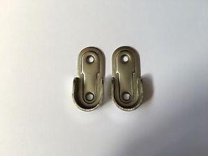 2 oval wardrobe rail hanging end supports rail brackets. Black Bedroom Furniture Sets. Home Design Ideas