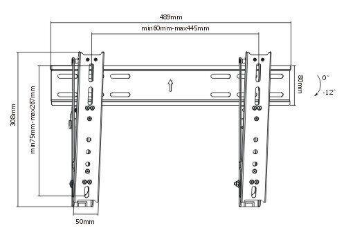 ibra u00ae high quality ultra slim tilting wall mount bracket