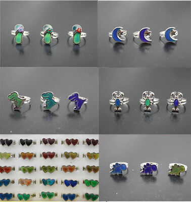 Wholesale Jewelry Lots 32pcs Change Color Mood Ring Women New Fashion Alloy Ring
