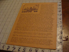 vintage Original SF Zine: LOCUS #40 Oct 21, 1969--Charlie & Dena Brown--10 pgs
