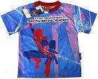 THE AMAZING SPIDER-MAN boys vibrant blue summer t-shirt Sz S Age 5-6y Free Ship