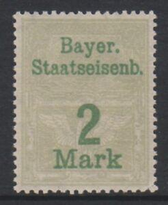 Bavaria-2m-Grey-Railroad-Tax-Fiscal-stamp-MNH