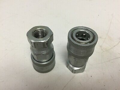 ISO 7241-B Close Hydraulic Quick Coupling 3//4 inch NPT 3000PSI 28GPM