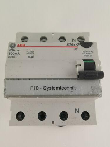 AEG Elfa FI Schalter 40A 500mA 604222 Fehlerstromschutzschalter 4-polig