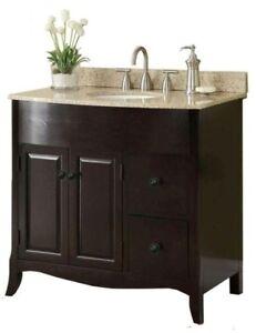 espresso brown mdf wood bathroom vanity drawers cabinet