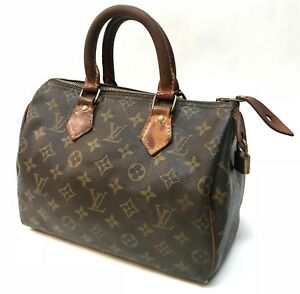 Image Is Loading Authentic Vintage Louis Vuitton Monogram Sdy 25 Handbag