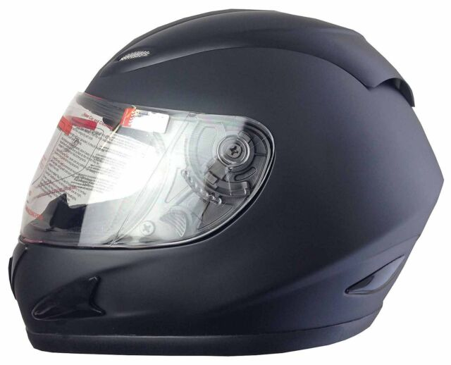 NEW FULL FACE MOTORCYCLE ROAD HELMET ADULT CLEAR & CHROME VISOR 5 tick approved