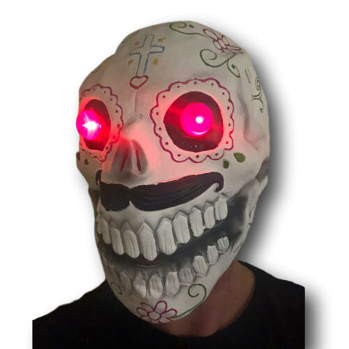 Sugar Skull Masque DEL Rouge Yeux le jour des morts Bond Costume Halloween Spectre