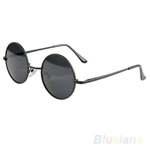 6b321cebe Vintage Retro Men Women Round Metal Frame Sunglasses Glasses Eyewear ...